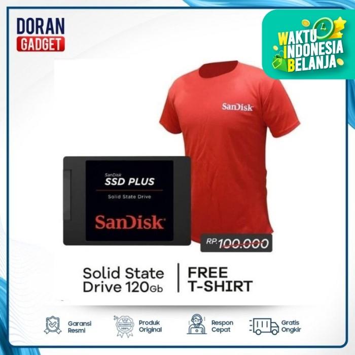 Foto Produk SSD Sandisk Plus 120GB 120 GB Original Garansi Resmi 5 Tahun dari Doran Gadget