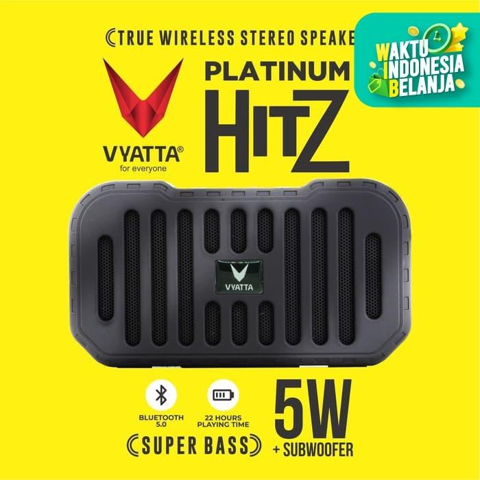 Foto Produk VYATTA Platinum Hitz TWS Speaker - Stereo, Bluetooth, USB/TF-MEGA BASS - Briliant Black dari VYATTA INDONESIA