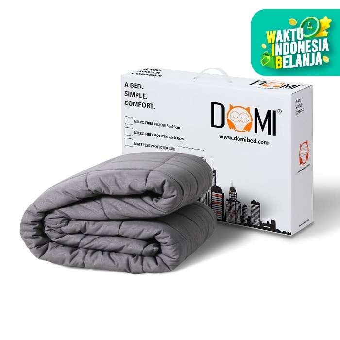 Foto Produk [CUSTOM BED] Domi Mattress Protector Grey / Pelindung Kasur Matras - 90 x 200 dari Domi Bed