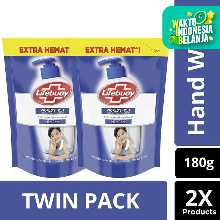 Foto Produk Lifebuoy Hand Wash Mildcare Refill 180ml - Twin Pack dari Unilever Official Store