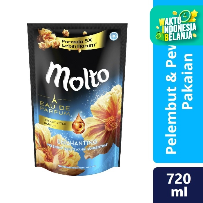 Foto Produk Molto Pelembut Dan Pewangi Pakaian Eau De Parfum Enchanting Gold 720Ml dari Unilever Official Store