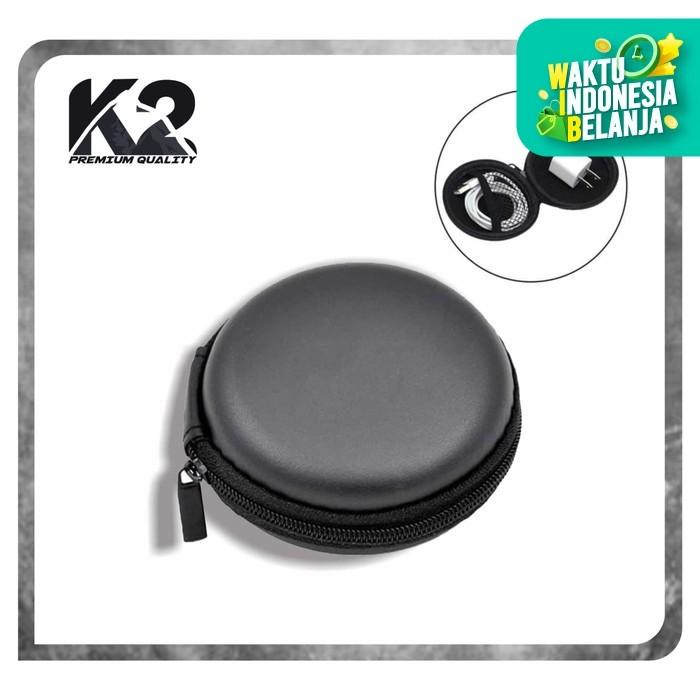 Foto Produk [GROSIR] Pouch BULAT k2 Premium Quality Organizer / Dompet Headset dari K2 Official Store