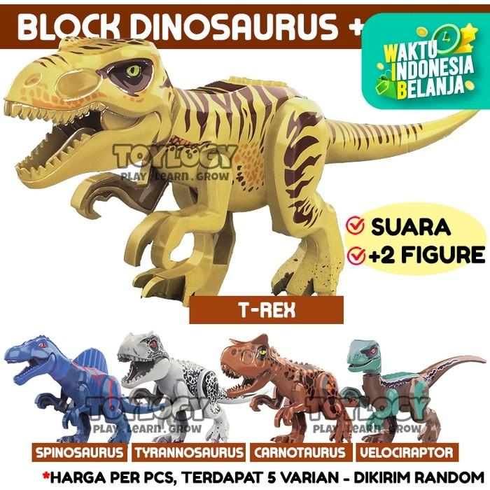 Foto Produk Mainan Anak Building Block Dinosaurus Dinosaur Analog Voice Suara Dino dari Toylogy