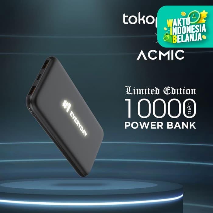 Foto Produk ACMIC x Tokopedia #1Everyday PowerBank 10000mAh QC3.0 +PD - 1 Everyday dari ACMIC Official Store
