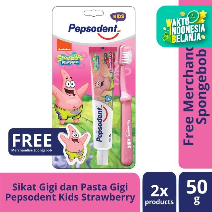 Foto Produk Pepsodent Kids Pasta Gigi Dan Sikat Gigi Anak Patrick 50G+1Pc dari Unilever Official Store