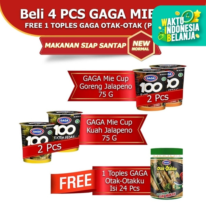 Foto Produk GAGA Mie Cup Jalapeno dan GAGA Otak-otakku (GGD) dari Gaga Official Store