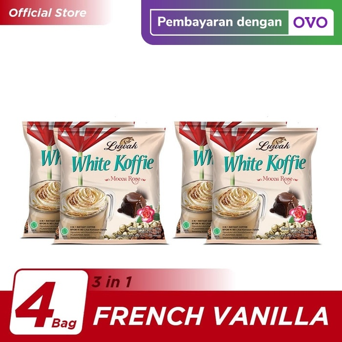Foto Produk Kopi Luwak White Koffie Mocca Rose Bag 5x20gr - 4 Pcs dari Kopi Luwak Official