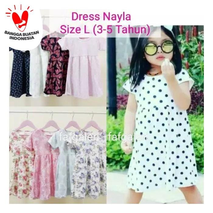 Foto Produk Dress Nayla L (3-5 Tahun) Baju Anak Perempuan Motif dari FAF Galeri