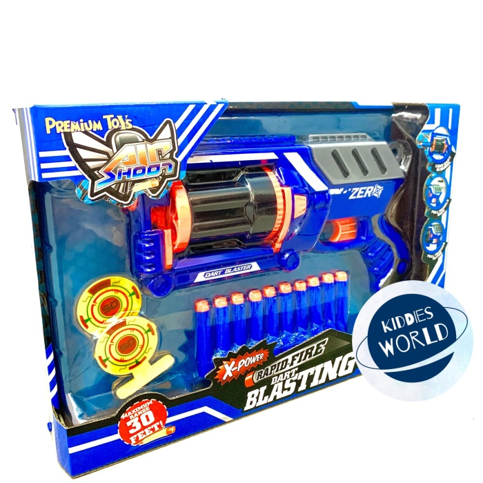 Foto Produk Mainan Nerf Gun Air Shoot Soft Bullet Rapid Fire Dart Blasting Pistol dari Kiddies World