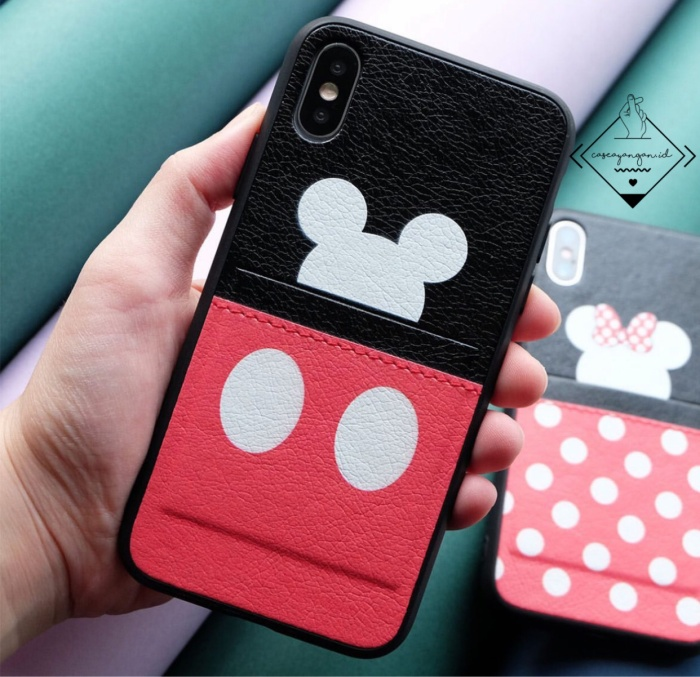 Foto Produk Mickey minnie pocket leather case iphone 6 6S 6+ 7 7+ 8 8+ X XR XS MAX dari Caseayangan ID
