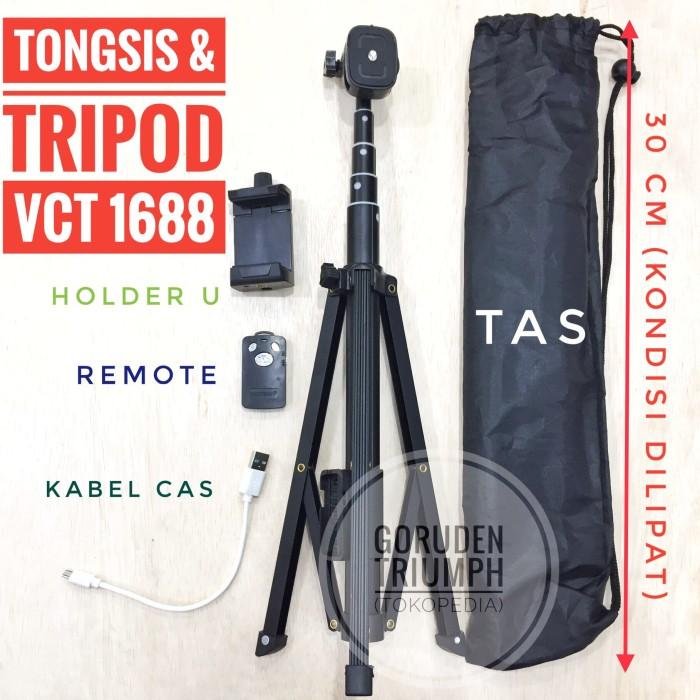 Foto Produk Paket Tripod Yunteng Bluetooth Remote Wireless VCT 1688 Gopro DSLR dari Goruden Triumph