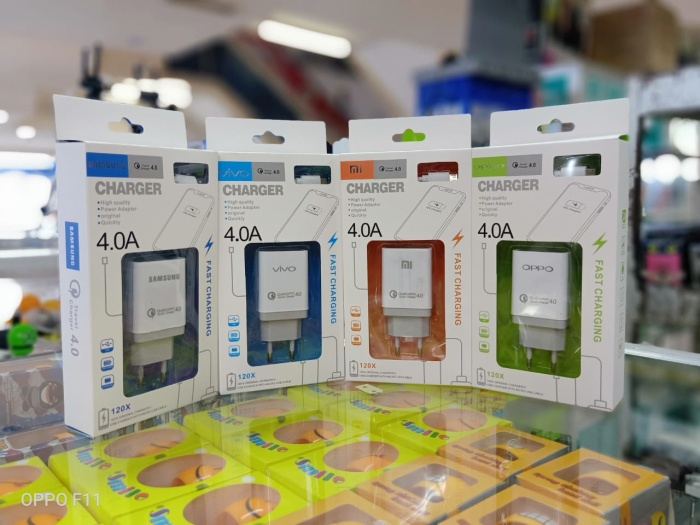 Foto Produk Charger 4.0A FAST CHARGING QUALCOMM Quick Oppo Samsung vivo Xiaomi dari Toko spesialis acc hp