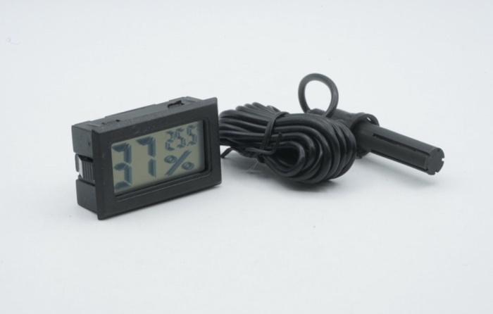 Foto Produk Thermometer Hygrometer LCD Digital External Sensor Temperature - Black dari MOREmoreMORE