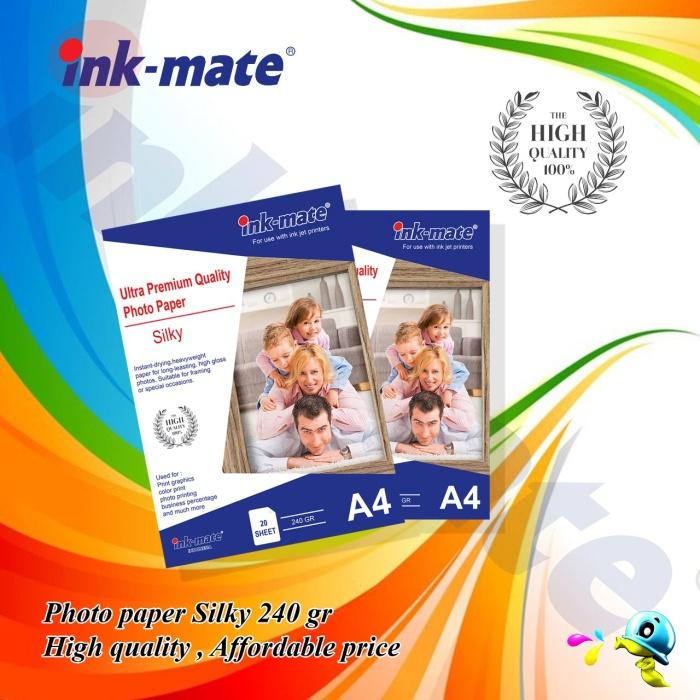 Foto Produk Kertas Foto / Photo Paper Silky A4 240gr dari INKMATE INDONESIA
