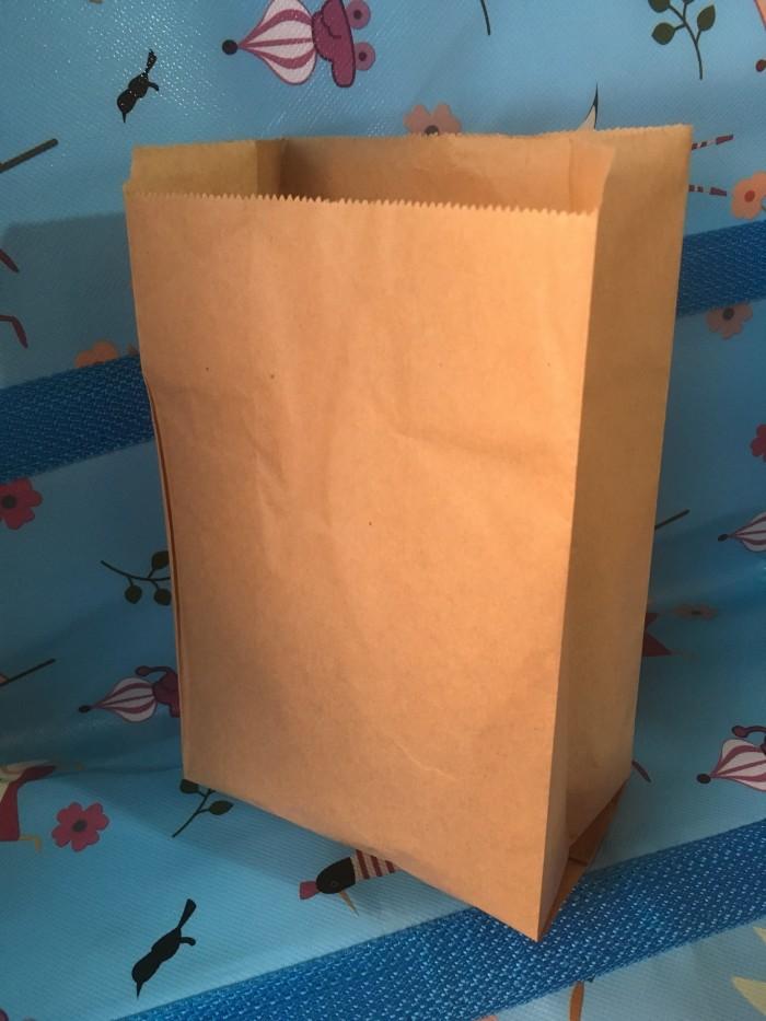 Foto Produk Paper bag bungkus makanan besar kantong kertas makanan food grade - Putih dari victoryst