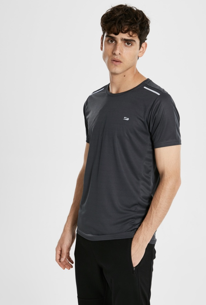 Foto Produk Kaos LC Waikiki LCW Sports Mens Active Flex Tee Grey Original Stretch dari OTOMO Store