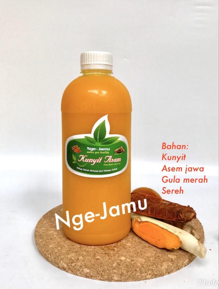 Foto Produk Kunyit Asam/Kunyit Asem 500 ml botol plastik (Herbal Drink/Jamu) dari WaroengSehat71