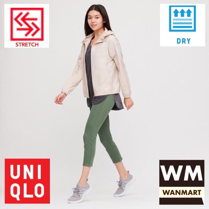 Jual Uniqlo Women Pants Celana Legging Crop Wanita Ultra Stretch Green Kota Depok Wan Mart Tokopedia