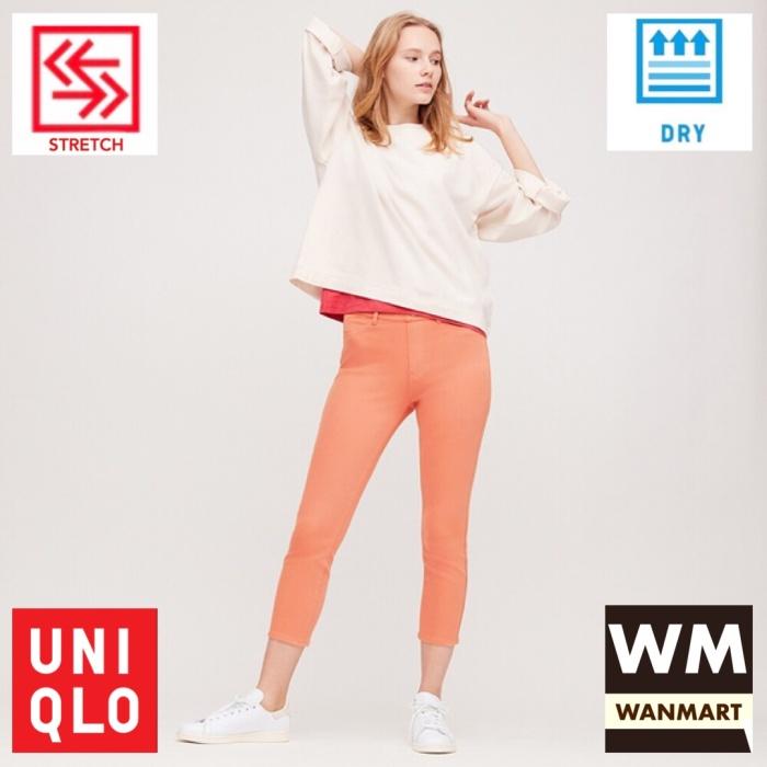 Jual Uniqlo Women Pants Celana Legging Crop Wanita Ultra Stretch Pink Kota Depok Wan Mart Tokopedia