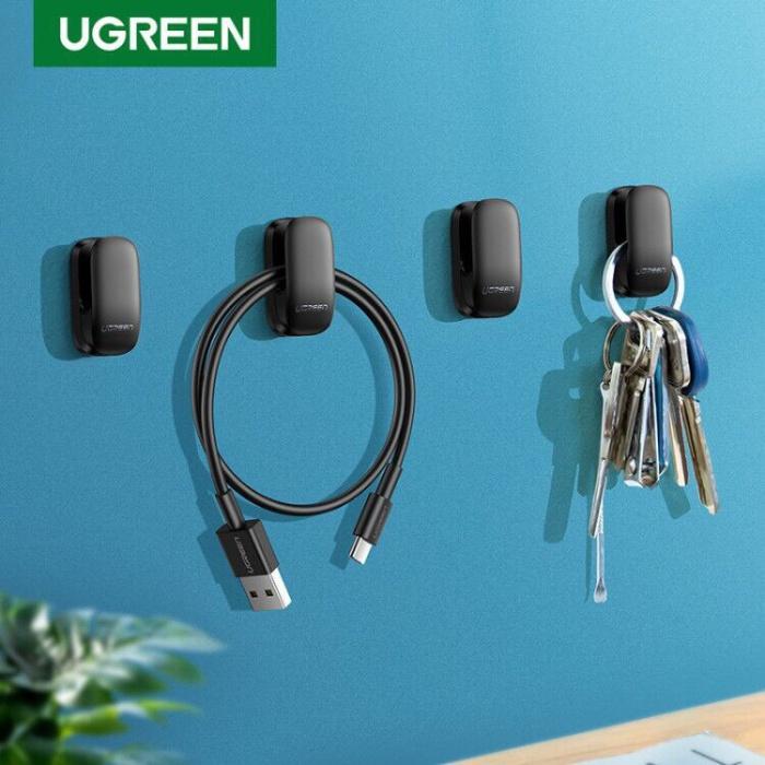 Foto Produk Ugreen Organizer Hook Hangers 4pcs Clip BLACK-80199 dari Ugreen ID