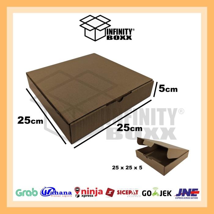 Foto Produk kotak kardus pizza box die cut ukuran 25x25x5 dari infinity boxx