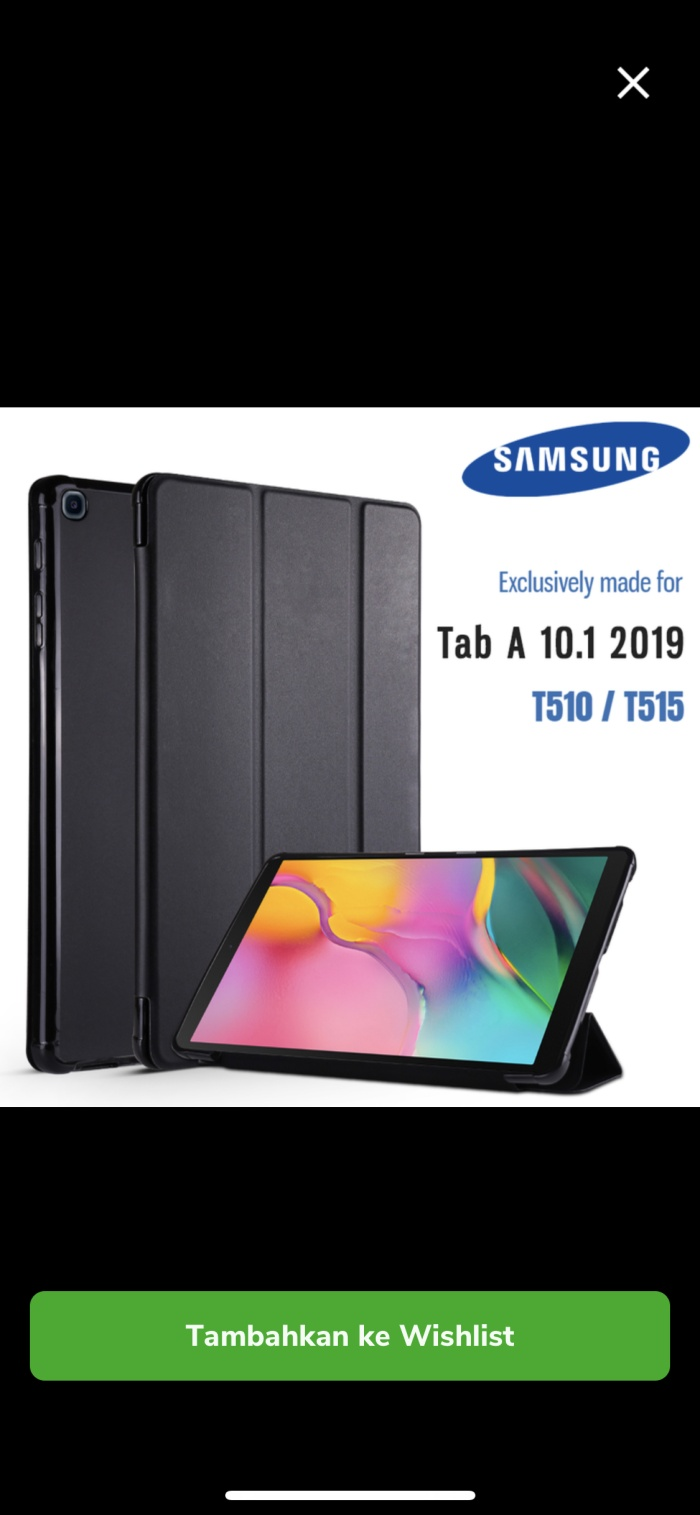 Foto Produk Samsung Galaxy Tab A 10 10.1 2019 T515 Flip Case/ Book Cover Soft Case dari Eternal ACC