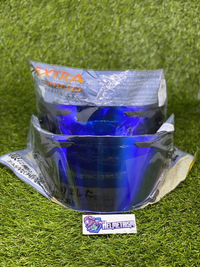 Foto Produk Visor iridium blue flat arai rx7x original new dari Fakri helm