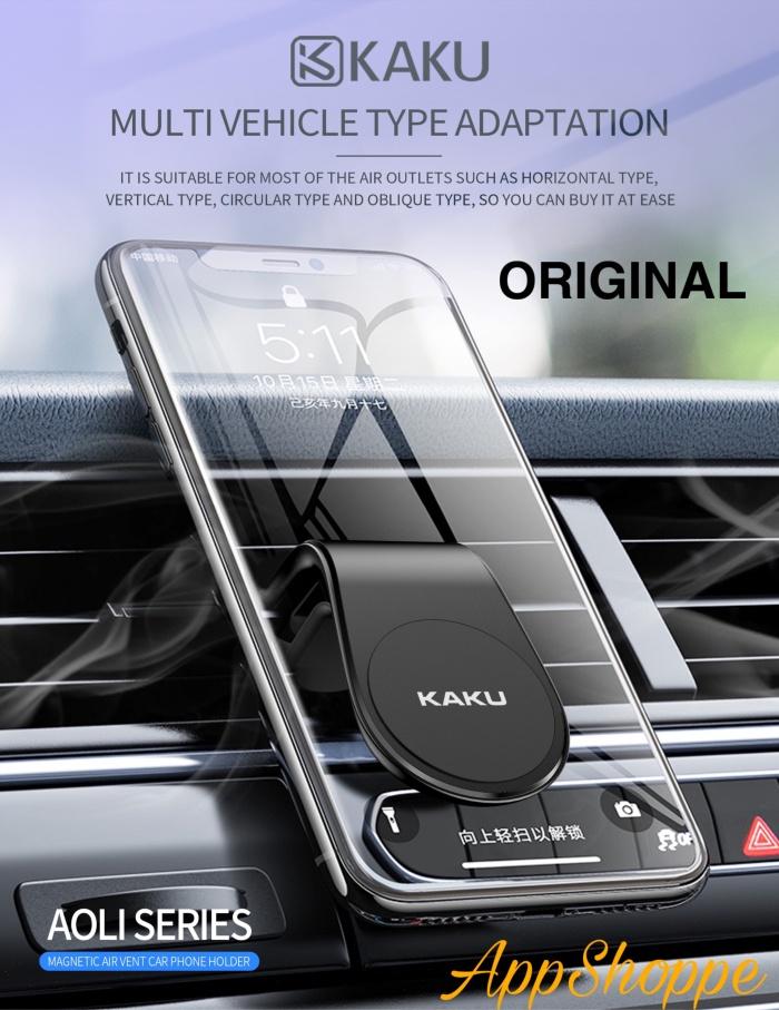 Foto Produk KAKU Magnetic Car Phone Holder L Shape Clip Air Vent Mount PREMIUM dari AppShoppe