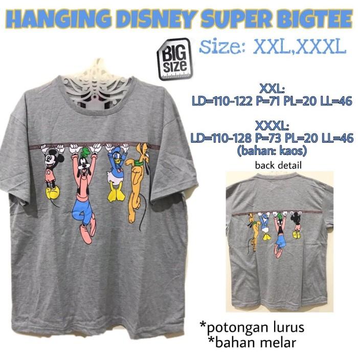 Foto Produk Hanging Disney Super Bigtee XXL XXXL Kaos Atasan jumbo wanita lucu dari Shop With Mali