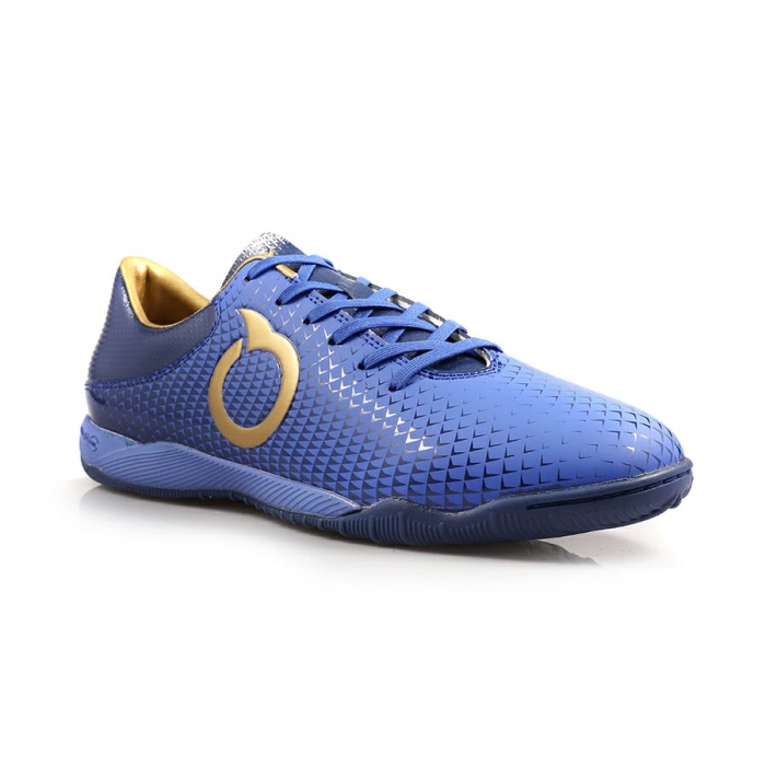 Promo Sepatu Futsal Ortuseight Original Forte Aegis In Blue Gold
