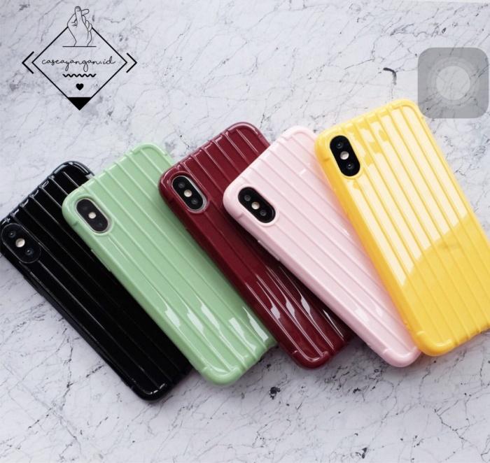 Foto Produk Trunk case Iphone 6 6S plus 7 8 X XR XS MAX 11 PRO MAX simple casing - Hitam dari Caseayangan ID