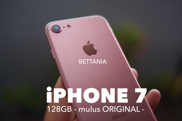 Foto Produk IPHONE 7 128GB - BLACK MATE - SECOND ORIGINAL dari bettania