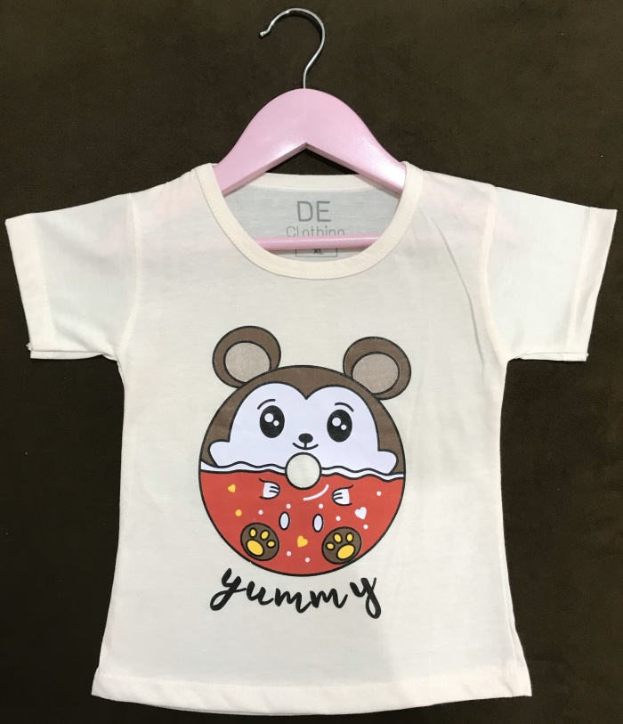Foto Produk Kaos anak perempuan 1-4 tahun - hamster donat - ukuran L dari DE CLOTHING