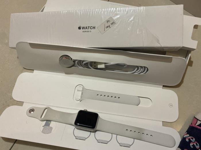 Foto Produk Apple watch 3 38mm lengkap sehat full ori dari vivi cellular