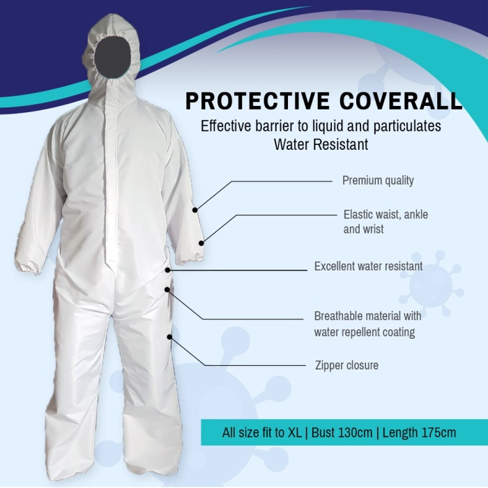 Foto Produk Baju APD / Safety Coverall / Hazmat Suit WATERPROOF dari C&S