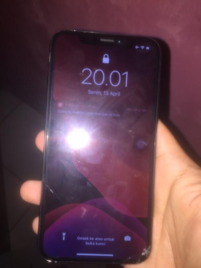 Jual Iphone x 256gb bypass minus : no face id tombol ...