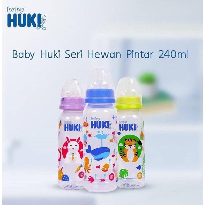Foto Produk HUKI botol susu 240ml dot gepeng orthodontic dari Ij olshop