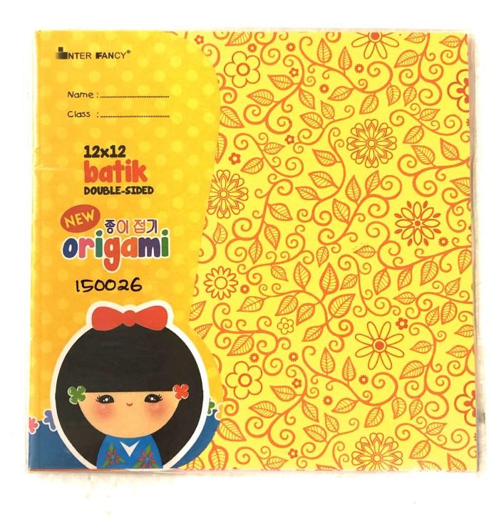Foto Produk Kertas Lipat / Origami Inter Fancy ukuran 12x12 Motif Batik dari BURSAMAHASISWA