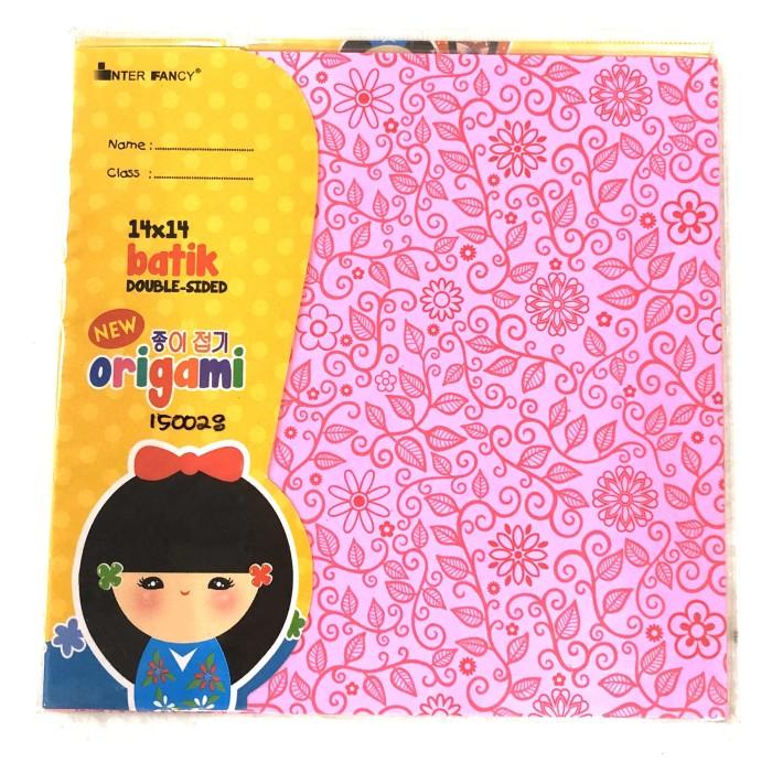 Foto Produk Kertas Lipat / Origami Inter Fancy ukuran 14x14 Motif Batik dari BURSAMAHASISWA