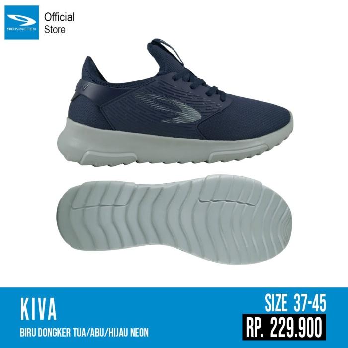 Foto Produk Sepatu running casual 910 original KIVA biru dongker/abu abu 2020 dari Kicosport