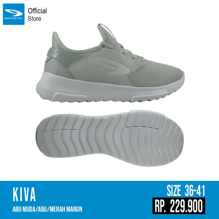 Foto Produk Sepatu running casual 910 original KIVA Abu abu 2020 Woman dari Kicosport