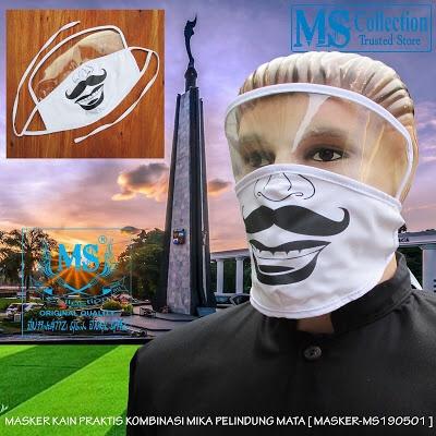 Foto Produk MASKER KAIN PRAKTIS MIKA PELINDUNG MATA [ MASKER-MS190501 ] dari Rusdyshop