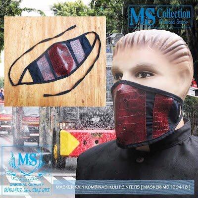 Foto Produk MASKER KAIN KOMBINASI KULIT SINTETIS [ MASKER-MS190418 ] dari Rusdyshop