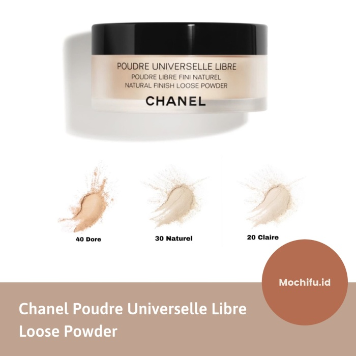 Jual Chanel loose powder full size translucent bedak tabur