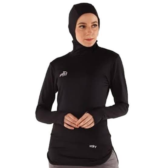 Foto Produk Amara hijab Baselayer+hijab LS W Black Specs Original sport new 2019 dari Kicosport