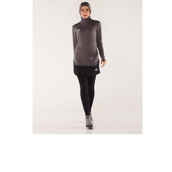 Foto Produk Amara hijab Baselayer+hijab LS W GREY Specs Original sport new 2019 dari Kicosport
