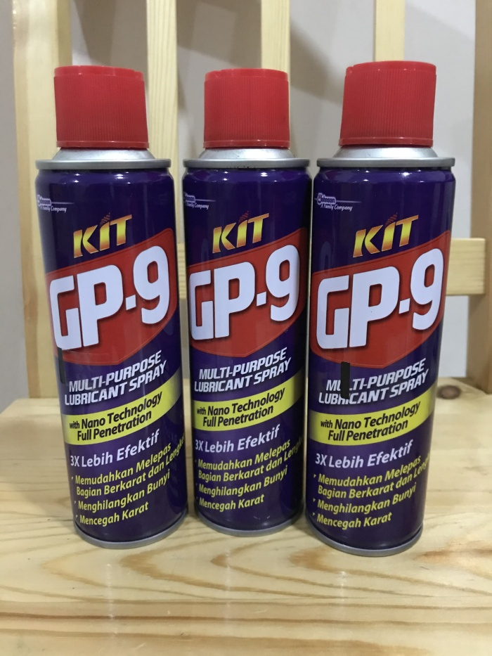 Jual KIT GP 9 Lubricant Spray Pelumas anti Karat 225ml - Jakarta ...