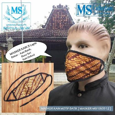 Foto Produk MASKER KAIN MOTIF BATIK [ MASKER-MS190512 ] dari Rusdyshop
