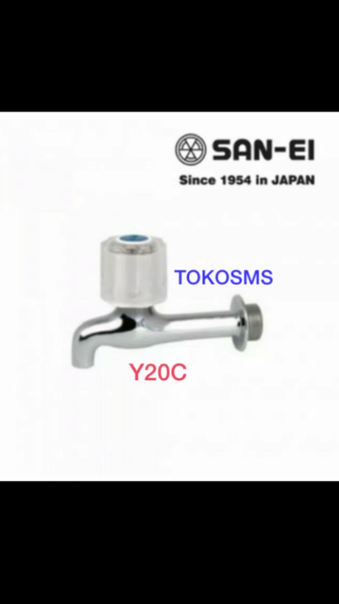 Foto Produk Kran tembok sanei y20c sink tap san ei py20c kran y 20 c dari tokosms