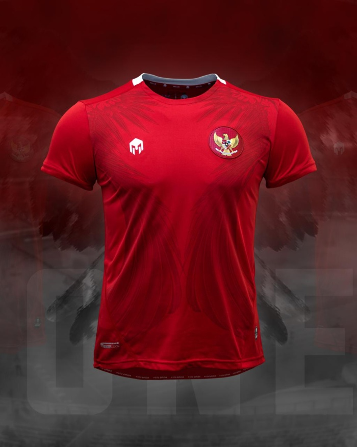 Foto Produk MILLS Timnas Indonesia Jersey Home Player Issue 1017GR Red Original dari Kicosport